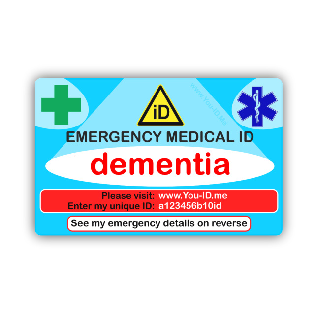 Dementia Emergency Medical Id Wallet Identity Card Sos In