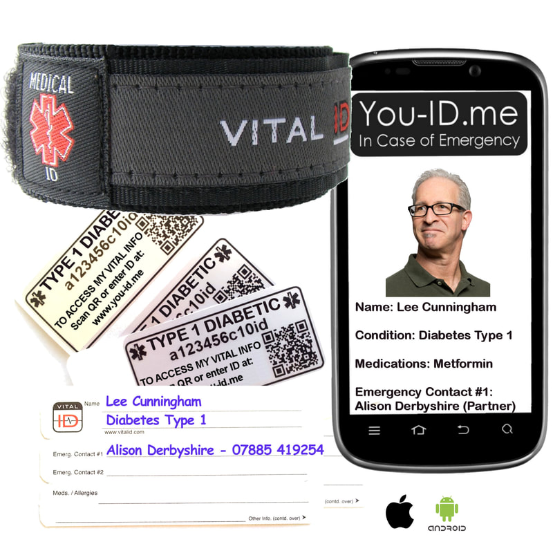 Diabetes Type One Medical Alert Bracelet from You ID Me