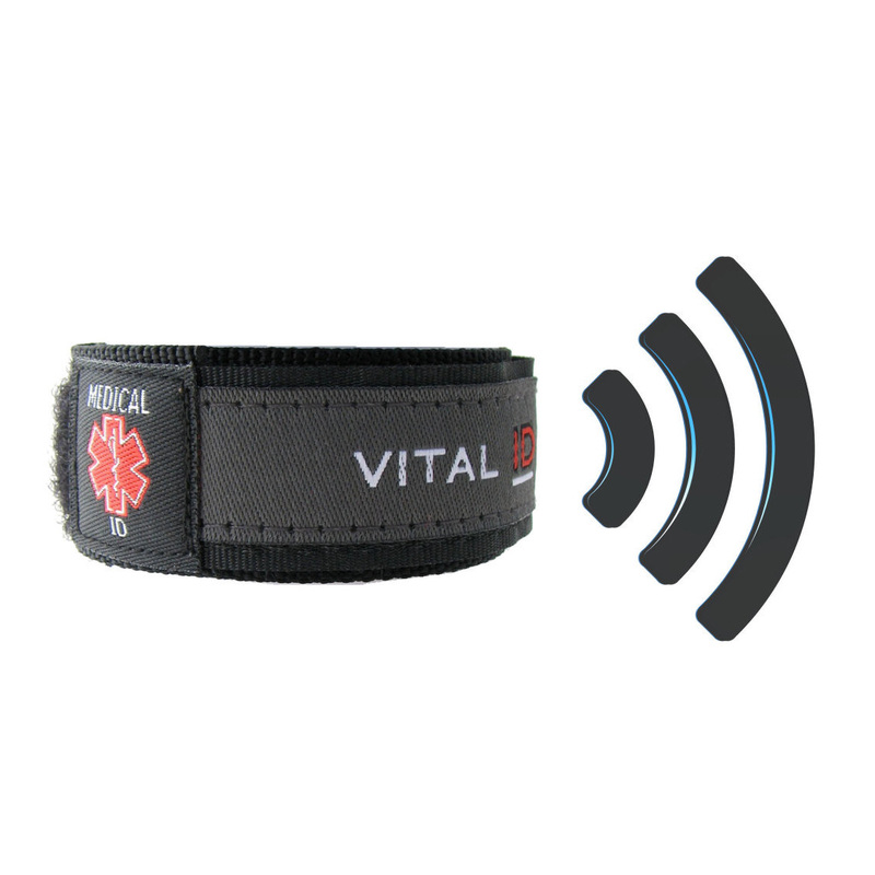 Medical ID Wristband with SMART ID. NFC Embedded Tag to give access to your full medical profile by paramedics and emergency services.