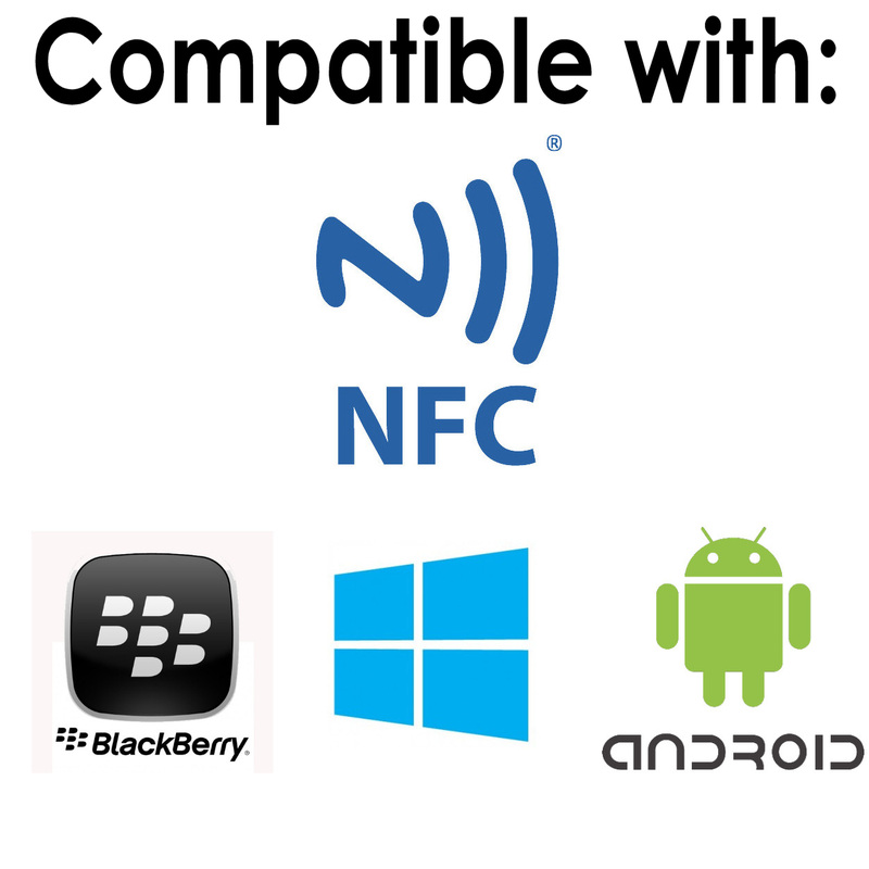 All NFC products are compatible with Blackberry, android and windows mobile operating systems.