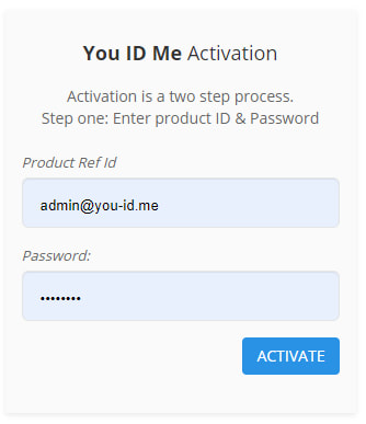 Activate your emergency ID product