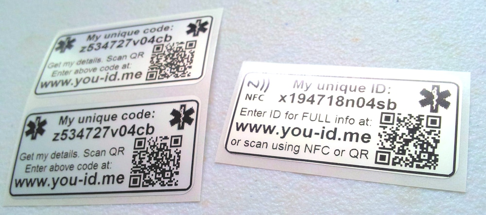 Lee from http://www.you-id.me shares information about the new medical ID labels being supplied now AS STANDARD with all You ID Me products and Vital ID Wristband products. You ID Me is the worlds safest range of medical ID wristband