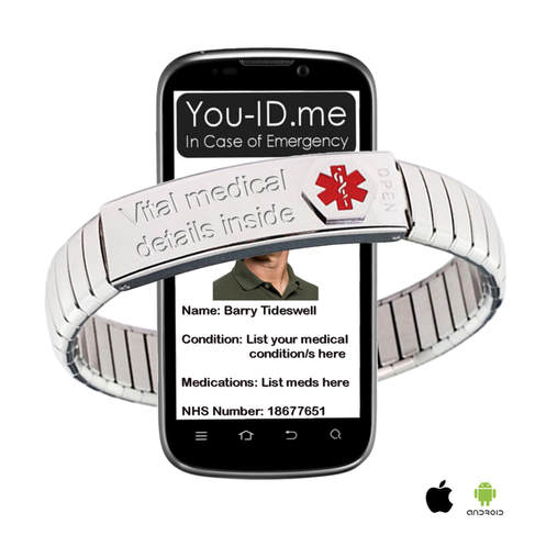 Emergency ID Bracelet Life Changing Medical ID Band