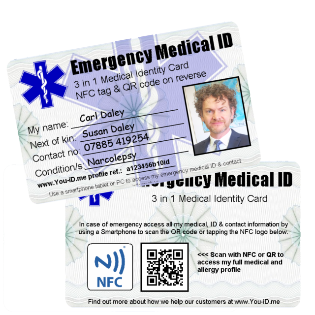 Contactless Medical Emergency And Sports Identity