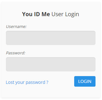 You ID Me log in box to alter and amend your ID profile